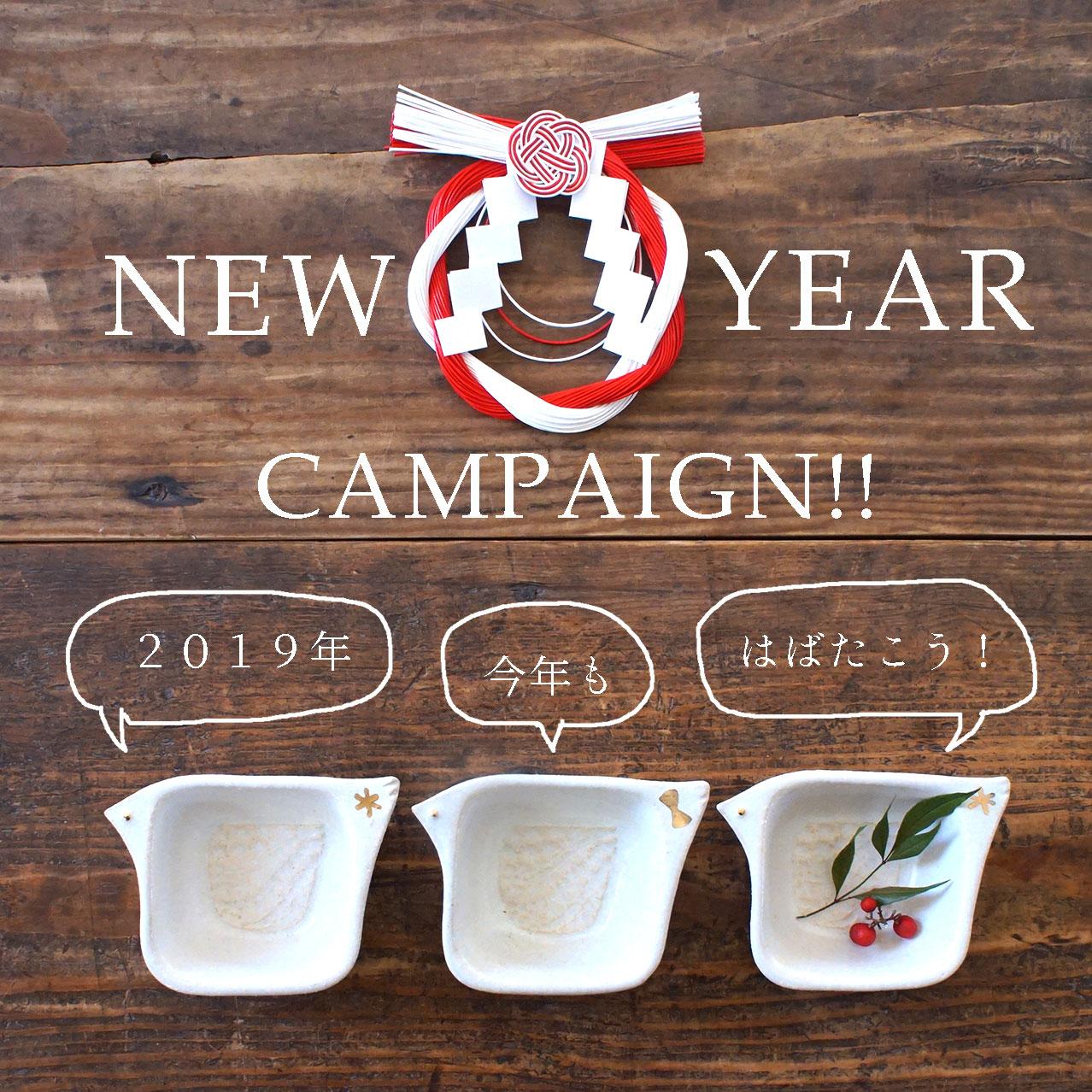 NEW YEARキャンペーンのお知らせです☆