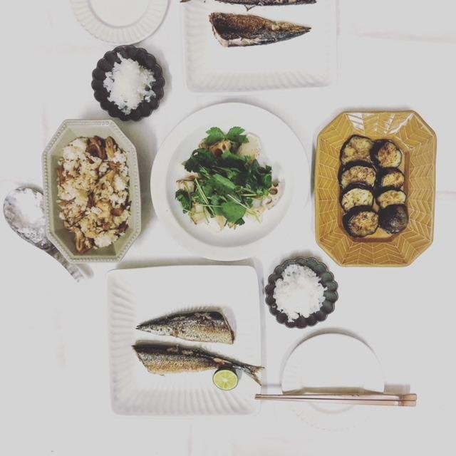 秋刀魚を食べる夜の日コーデ