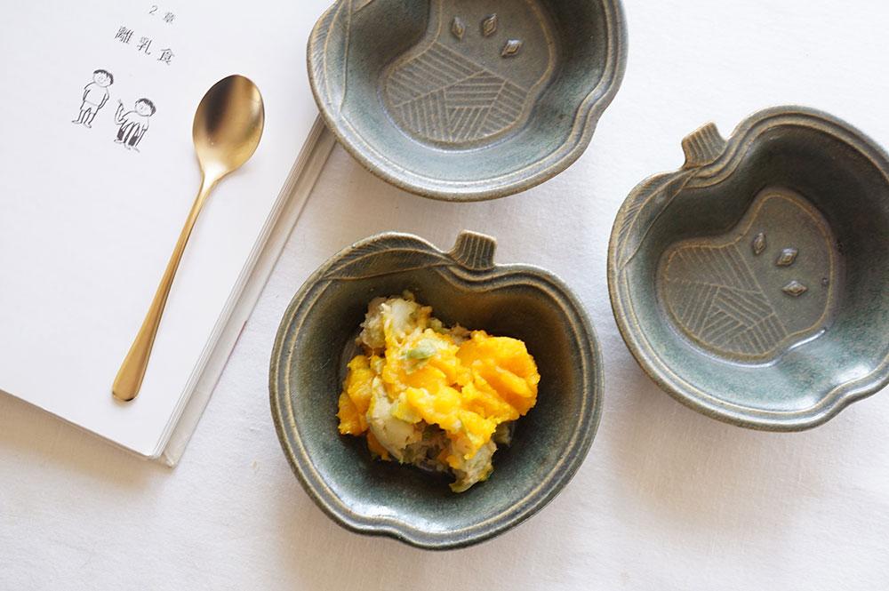 銅錆釉 パッチワークのりんご小鉢